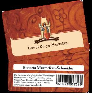 Kundenkarte Wenzel Prager Bierstuben